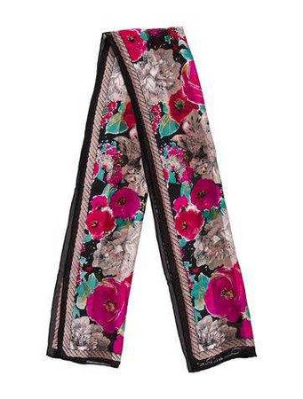 Oscar de la Renta Floral Silk Scarf - Accessories - OSC69900 | The RealReal