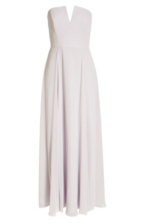 Dessy Collection Strapless Chiffon A-Line Gown | Nordstrom