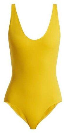 The Zeno Swimsuit - Womens - Yellow