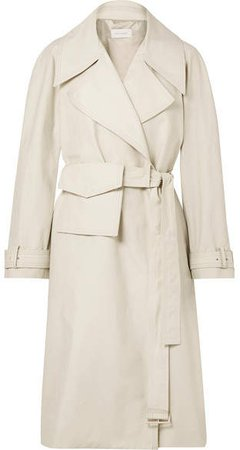 LOW CLASSIC - Cotton-blend Trench Coat - Ivory