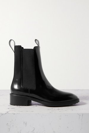 Simone Leather Chelsea Boots - Black