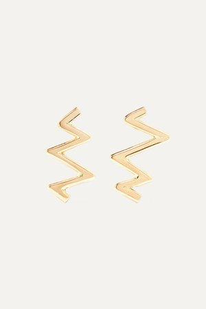 Melissa Joy Manning | 14-karat gold earrings | NET-A-PORTER.COM