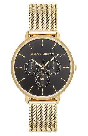 Rebecca Minkoff Major Chronograph Bracelet Watch, 38mm | Nordstrom