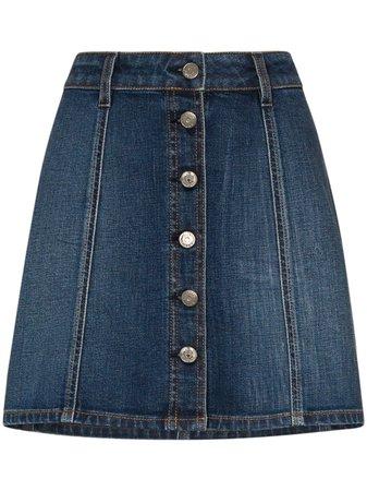 Self Cinema Love Me button-up Mini Skirt - Farfetch