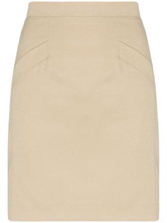 Situationist high-waisted Mini Skirt