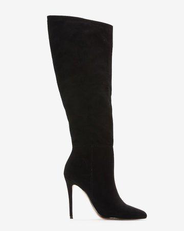 Knee High Asymmetrical Shaft Boots