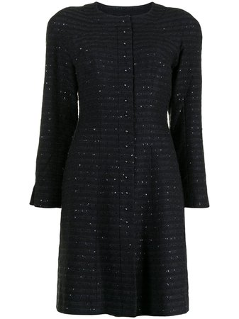Chanel Pre-Owned Sequinned single-breasted Coat - Farfetch