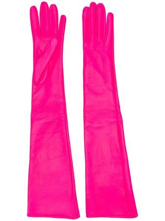Pink Manokhi elbow length gloves - Farfetch