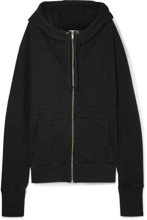 TRE - The Hoodie Oversized Cotton-jersey Hooded Top - Black