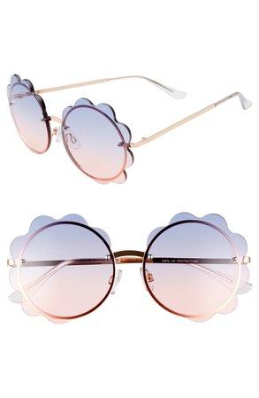 BP. 60mm Gradient Scalloped Round Sunglasses   Nordstrom