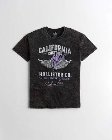 Girls Oversized Crewneck Graphic Tee | Girls Tops | HollisterCo.com