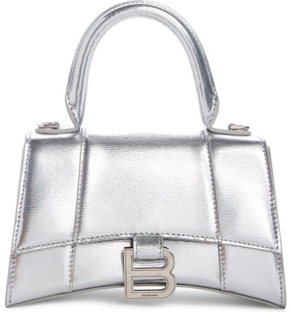 Balenciaga Extra Small Hourglass Leather Top Handle Bag | Nordstrom