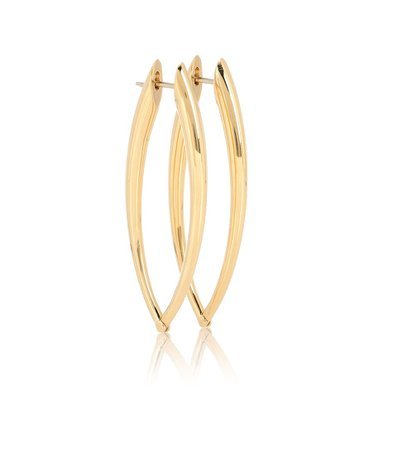 Cristina 18Kt Gold Hoop Earrings | Melissa Kaye - Mytheresa