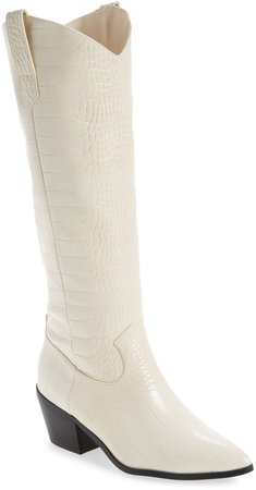 Billini Howie Croc Embossed Tall Western Boot