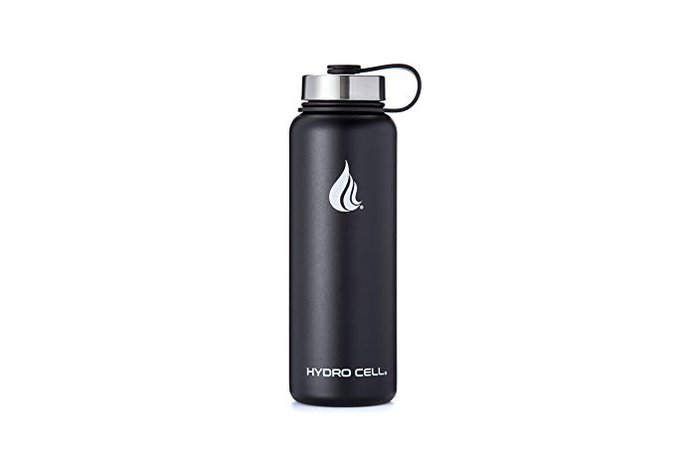 Amazon.com : HYDRO CELL Stainless Steel Water Bottle w/Straw & Wide Mouth Lids (40oz 32oz 24oz 18oz) - Keeps Liquids Hot or Cold with Double Wall Vacuum Insulated Sweat Proof Sport Design (Army 40 oz) : Gateway
