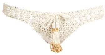 Hira Crochet Bikini Briefs - Womens - Cream