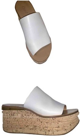 Camille White Leather Sandals
