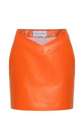 Aleksandre Akhalkatsishvili V-Waist Vinyl Mini Skirt Size: M