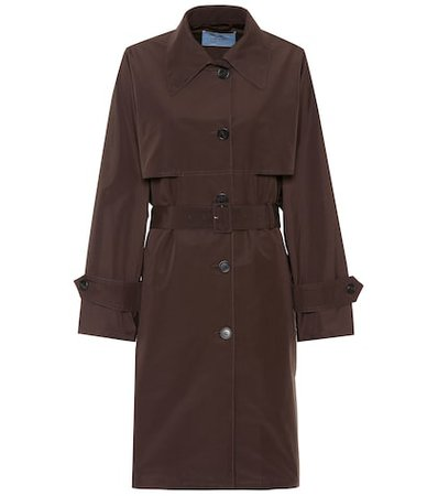 Technical poplin coat