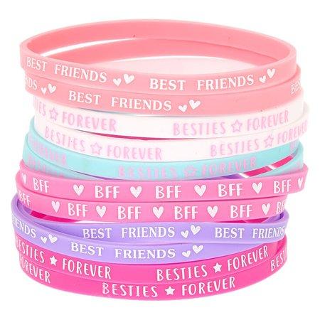 Pastel Rubber Friendship Bracelets - 12 Pack | Claire's US