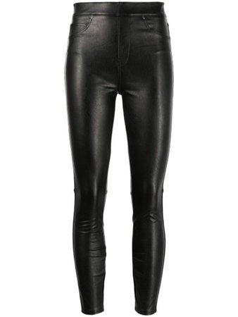 Spanx Like Leather high-rise skinny pants - FARFETCH