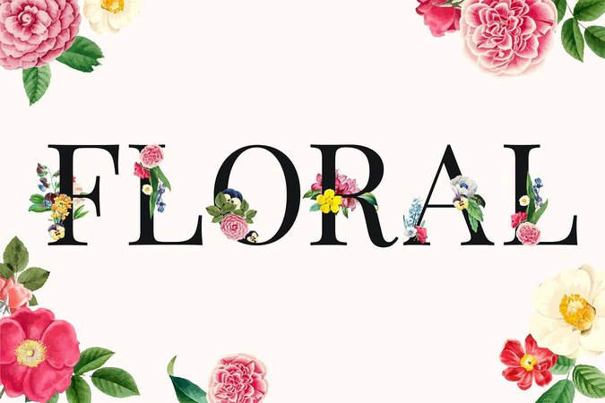 floral word - Google Search