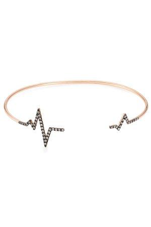Heartbeat 18kt Rose Gold Bracelet with White Diamonds Gr. One Size