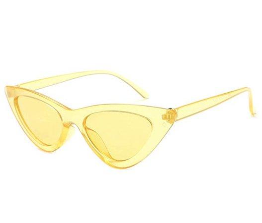 Amazon.com: Vintage Cateye Sunglasses for Women Retro Fashion Classic Womens Sunglasses by W&Y YING C3 (Yellow): Clothing