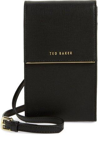 Geriee Saffiano Leather Phone Crossbody Bag