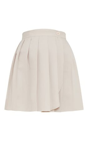 Stone Woven Skater Skirt | Skirts | PrettyLittleThing USA