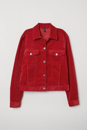 Cotton Corduroy Jacket - Red | H&M