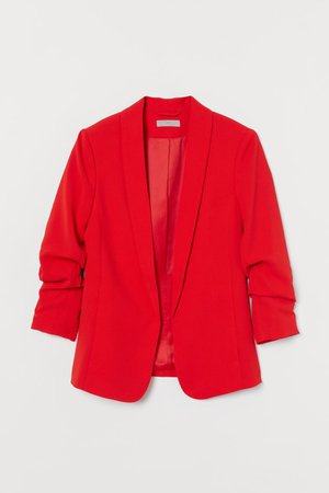 Shawl-collar Jacket - Red - Ladies | H&M US