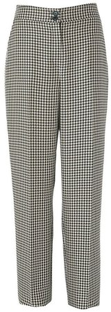 **Tall Black Checked Trousers