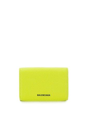 Balenciaga Ville Mini Wallet 55820806H2N Yellow   Farfetch