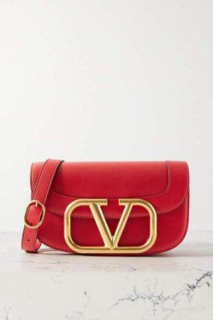 Garavani Supervee Leather Shoulder Bag - Red