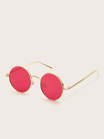 Men Round Metal Frame Sunglasses | SHEIN USA
