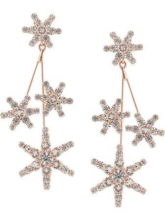 Gold Jennifer Behr Embellished Constellation Earrings | Farfetch.com