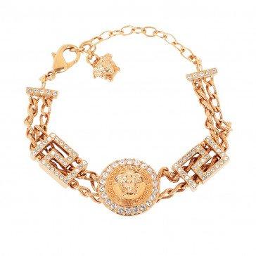 Versace Medusa Bracelet Crystal/Oro in gold | fashionette