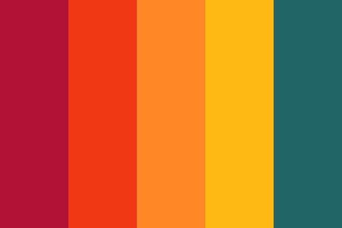 70s colour pallet