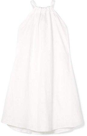 Kalita - Charlie Reversible Embroidered Cotton Mini Dress - White