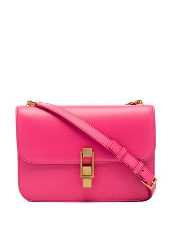 Saint Laurent Carré Leather Shoulder Bag - Farfetch