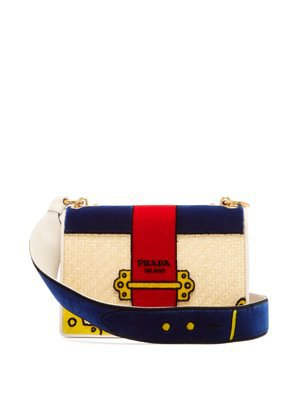 Cartoon Velvet Cross-Body Bag | Prada | MATCHESFASHION.COM