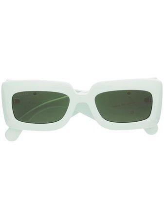 Gucci Eyewear Chunky Frame Rectangular Sunglasses - Farfetch