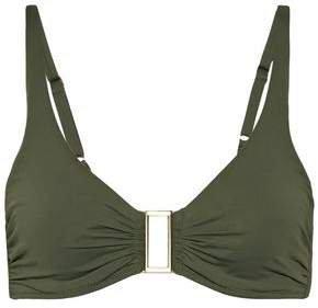 Bel Air D-g Embellished Ruched Bikini Top