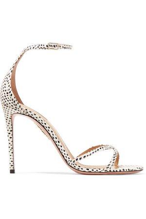 Aquazzura   Purist polka-dot elaphe sandals   NET-A-PORTER.COM