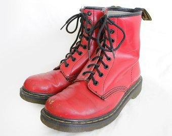 US6 Dr Martens Vintage Red Leather Doc Martens Boots EU37/ US6   Etsy