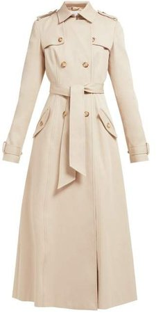 Casatt Double Breasted Cotton Trench Coat - Womens - Beige