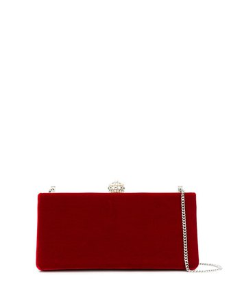 Red Jimmy Choo Jewelled Clutch Bag | Farfetch.com