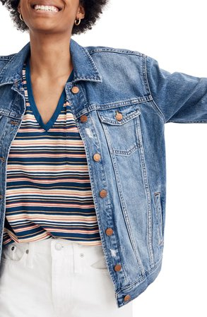 Madewell The Oversized Jean Jacket | Nordstrom