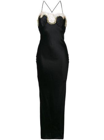 Gilda & Pearl Long Lace Slip Dress - Farfetch